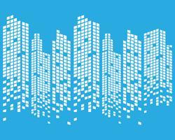 Toits de la ville moderne. silhouette de la ville. illustration vectorielle au design plat