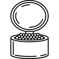 Face Powder Icon Vector
