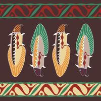 Aborigen Avstralian fundo ornamento oriental com peixe