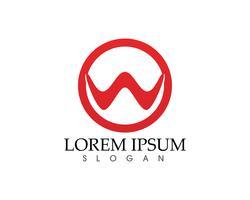 W letras vector logo y símbolos de negocios