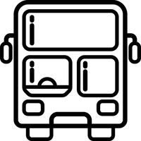 Double Decker Front View Icon Vector