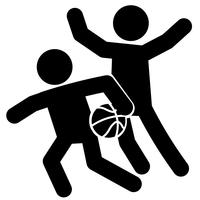 Basketbal verdediging pictogram Vector
