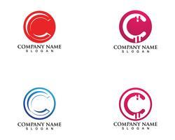 Modello di logo e simboli C vettoriale
