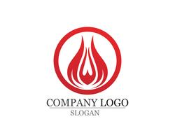 Fire flame Logo Template vector icon Oil gas and energy