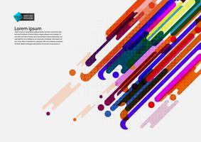 Multi gekleurde geometrische abstracte achtergrond met exemplaar ruimte modern ontwerp, Vectorillustratie