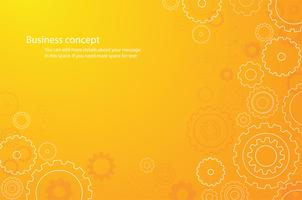 abstract orange cogs wheel background