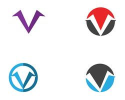 V logo business logo and symbols template