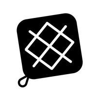 Titular de la olla icono vector