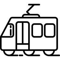 Icono de tranvía vector