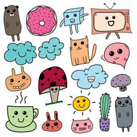 Kawaii Doodle For Kids. Hand Drawn Vector Illustration.