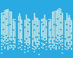 Moderne skyline van de stad. stadssilhouet. vectorillustratie in platte ontwerp
