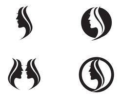pelo mujer y cara logo y simbolos