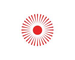 Web dell'icona della stella di simboli e di logo di Sun.