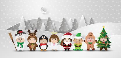 Weihnachten süße Kinder