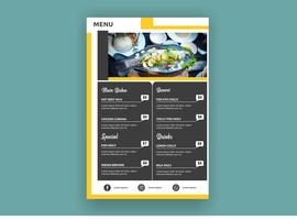Colorful creative modern resturant menu template  vector