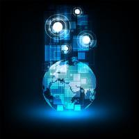 Système de communication du monde numérique.