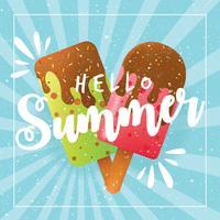 Conception de vecteur de crème glacée d'été