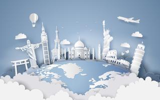 Ilustração do dia mundial do turismo