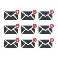 Set Envelope Email Icon Logo Template Illustration Design. Vector EPS 10.