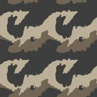 Camouflage pattern. Seamless. Military background. Soldier camou vector