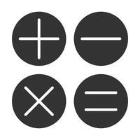 Diseño del ejemplo de la calculadora de la plantilla del logotipo del icono de las matemáticas. Vector EPS 10.