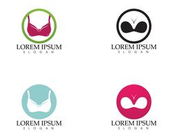 Set of different push up bras isolated over