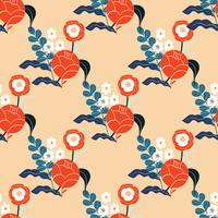 Colorful abstract floral pattern. Seamless vector background.