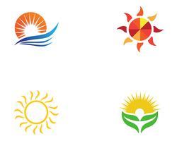 modelos de vetor de logotipo do sol