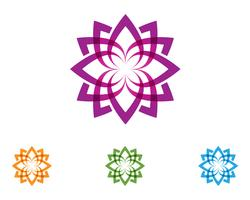 lotus flower nature logo and symbol template Vector