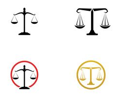 Justice lawyer logo and symbols template icons app