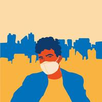 people wear protect mask vector