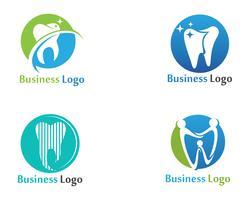 Logo de soins dentaires et modèle de vecteur de symboles