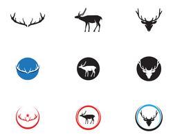 Hoofd herten dieren logo zwarte silhouete pictogrammen