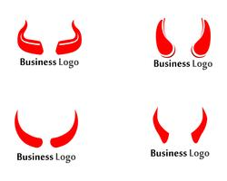 Devil horn Vector icon design illustration Template
