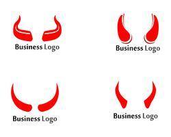 Duivel hoorn Vector pictogram ontwerp illustratie sjabloon