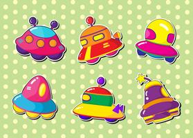 ufo stickers set