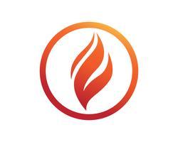 vuur vlam natuur logo en symbolen pictogrammen sjabloon