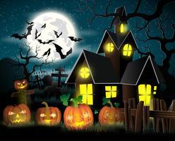 Glad Halloween affisch. Vektor illustration.