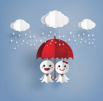 Japanese paper doll against rain,teruterubozu