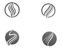 Ícone de vetor de cabelo e modelo de logotipo