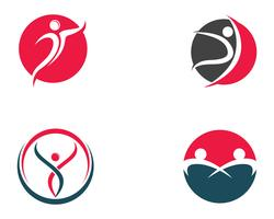 Health people logo and symbols template icons