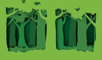 skog med träd och gräs