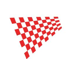 bandiera modello logo e simbolo dei vettori