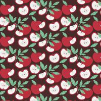 Vector Apple Seamless Pattern