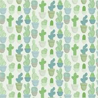 Vector Seamless Cacti Pattern