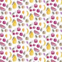 Vektor sömlös frukt mönster
