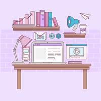 Illustrazione di marketing online vettoriale