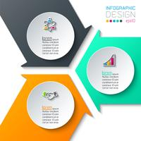 Abstract infographics on vector graphic art.