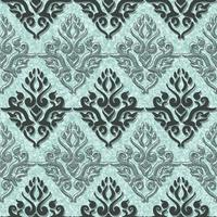 Victorian art floral seamless pattern. Green vintage background
