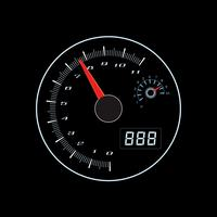 Termómetro de velocidad en el arte gráfico vectorial.